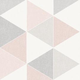 Arthouse Retro House Behang 908204 Scandi Triangle Pink/Modern