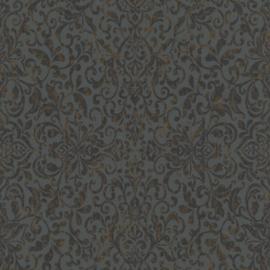 Rasch Amiata 296166 Barok/Ornament/Landelijk/Klassiek/Etnisch/Grijs Behang