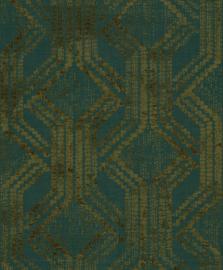 Noordwand Zero Behang 9726 Cristiana Masi/Grafisch/Modern/Etnisch/Groen/Goud