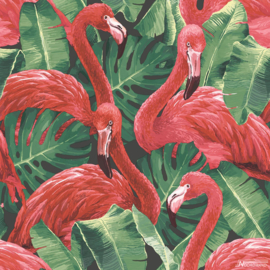 Noordwand Global Fusion Behang G56405 Flamingo's/Vogels/Dieren/Planten