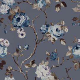 Origin Wunderkammer Behang 346-347429 Bloemen/Romantisch/Grijs/Blauw