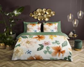 Muller Textiles Dekbedovertrek 20018 Descanso Organic Annabelle Offwhite/Bloemen/Botanisch/Lits-Jumeaux