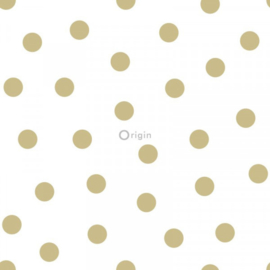 Origin Precious Behang 352-347674 Dots/Stippen/Polka/Kinderkamer/Goud