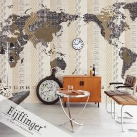 Eijffinger Wallpower Wonders Behang 321569 Times Bold/Wereldkaart/Map/Peuter/Kleuter Fotobehang