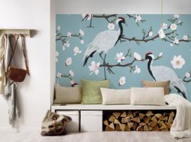 AS Creation Designwalls Fotobehang DD118584 Japanese Cranes/Japanse Kraanvogels/Botanical/Vogel/Bloesem