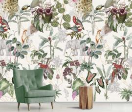 Behangexpresse Floral-Utopia Fotobehang INK7591 Luang Prabang Colors/Dieren/Botanisch/Grafisch