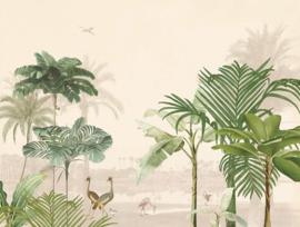 Eijffinger Oasis Fotobehang 317401 Lush Lagoon Large/Tropisch/Vogels/Blush Pink
