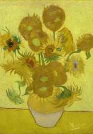Van Gogh BN Wallcoverings Behang 30542 Zonnebloemen/Vaas/Schilderij/Geel Fotobehang