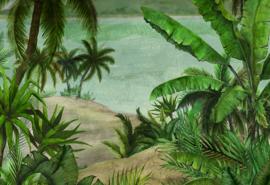 Hookedonwalls Blooming Digital Fotobehang BLD22780 Tropical/Botanisch/Natuurlijk/Groen