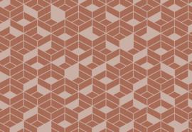 Hookedonwalls Tinted Tiles Behang 29022 Flake/Modern/Grafisch/3D