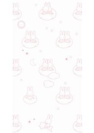 Kek Nijntje WP-521 Miffy Clouds Pink Behang - Dutch Wallcoverings/Kek Amsterdam