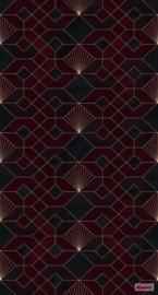 Komar/Noordwand Heritage Edition1 Fotobehang HX3-010 Coquilles Rouges/Grafisch/Modern Behang