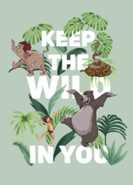 Komar/Disney Edition4 Poster/Affiche WB090 Jungle Book/Keep the Wild In You/Kinderkamer Afbeelding