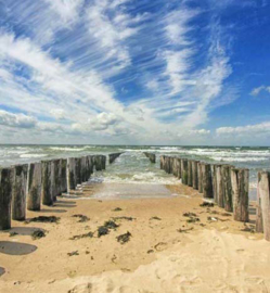 We Live by Light/Holland Zeeland Golfbrekers 7504 Fotobehang - Noordwand