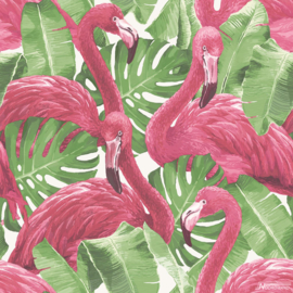 Noordwand Global Fusion Behang G56406 Flamingo's/Vogels/Planten/Tropisch
