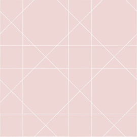 Esta Home Scandi Cool Behang 152-139091 Grafische Lijnen/Modern/Roze
