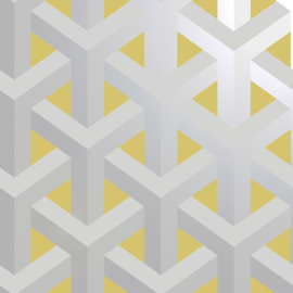 Dutch Wallcoverings Indulgence Behang 12811 Glistening Trident Geo Yellow/3D/Geometrisch/Modern