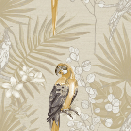 Noordwand Casa Mood Behang 27003 Papegaai/Bloemen/Botanisch/Natuurlijk