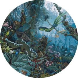 KEK Amsterdam Kids Circle CK-021 Tropical Landscape/Natuur/Dieren/Vogels/Cirkel Behang