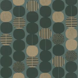 Onszelf Amazing Behang 539752 Modern/Retro/Linnen Structuur/Ballen/Stippen