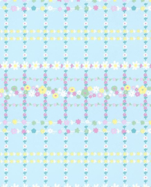 Eijffinger Rice Behang 359032 Bloemen/Romantisch/Strepen