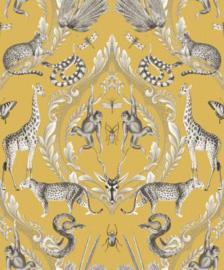 Noordwand Bazaar Behang G78315 Dieren/Ornament/Apen/Libelle