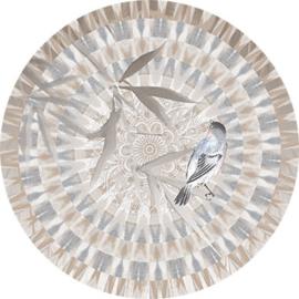 Behangexpresse Circle of Life/Select.D Cirkel TD817 Moiree/Mandala/Vogel/Blad
