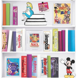 Noordwand Kids@Home Individual Behang 106455 Disney Bookshelf/Boekenplank/Kinderkamer