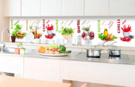 Dimex Zelfklevende Keuken Achterwand  Spice KL-350-003 Kruiden/Specerijen