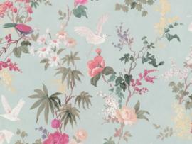 BN Wallcoverings/Voca Fiore Behang 220484 Blooming/Bloemen/Vogels/Floral/Klassiek/landelijk/Modern
