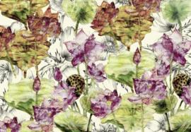 Komar Stories XXL4-070 Lotus/Bloemen/Botanisch Fotobehang - Noordwand