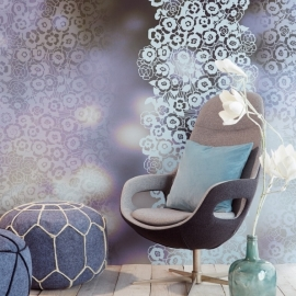 Eijffinger Raval Behang 341590 Violage/Bloemen/Romantisch/Floral Fotobehang