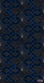 Komar/Noordwand Heritage Edition1 Fotobehang HX3-009 Coquilles Nuit/Grafisch/Modern Behang