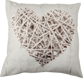 Kussenhoes Hearts Grey - Royal Textile- Outlet
