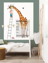Kek Amsterdam Behangpaneel Giant Giraffe PA-024 Giraf/Kinderkamer Fotobehang