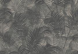 Hookedonwalls Blooming Behang BL22762 Allover Leaf/Botanisch/Bladeren/Natuurlijk/Grijs