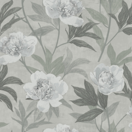 Dutch Wallcoverings Solitar Behang 41001 Bloemen/Kalk/Beton/Modern/Landelijk