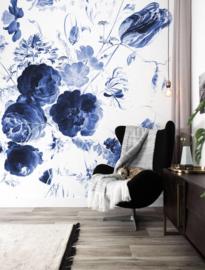 KEK Amsterdam II Fotobehang WP-207 Royal Blue Flowers/Blauwe Bloemen