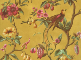 BN Wallcoverings/Voca Fiore Behang 220444 Birds Of Paradise/Vogels/Bloemen/Fruit/Landelijk/Modern