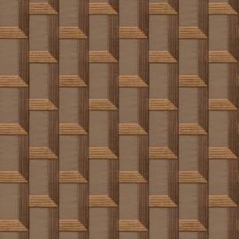 Dutch Wallcoverings Wallstitch Behang DE120074 Modern/Ruit/3D/Linnen structuur