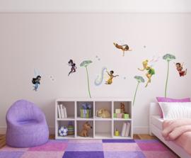 Noordwand/Komar Disney Edition4 Muurstickers 14049 Fairies Flowers/Kinderkamer Stickers