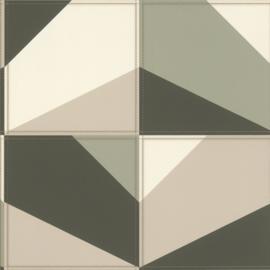 Rasch Club Behang 419245 Vlakken/Modern/Leer effect/Natuurlijk/Grafisch