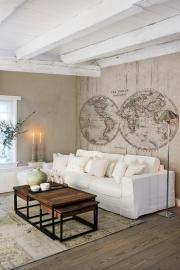 Voca/BNInternational Riviera Maison 30602  Wereldkaart /Hout/Landelijk Fotobehang