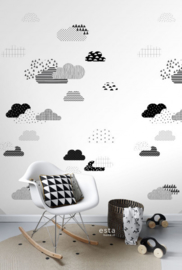 Esta Home Let's Play Fotobehang 158922 Clouds/Wolken/Kinderkamer Behang