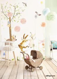 Eijffinger Wallpower Junior Behang 364160 Party Bunnies/Bos/Dieren Fotobehang