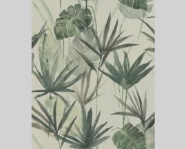 Rasch Barbara Home Collection  Behang 536409 Botanisch/Bladeren/Natuurlijk/Draadje Structuur