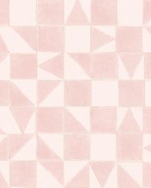 Eijffinger Mini Me Behang 399091 Scandinavisch/Grafisch/Geometrisch/Kinderkamer/Roze
