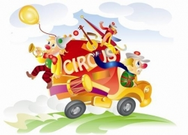 Noordwand  Little Ones Behang 418020 Circus Truck/Wagen/Clown/Kinderkamer Fotobehang