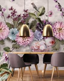 Behangexpresse Floral-Utopia Fotobehang INK7551 Midsummer/Bloemen/Vogels
