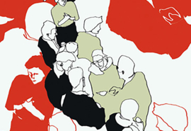 Hookedonwalls Marimekko Behang 23360 Ystavat/Grafisch/Modern/Mensen